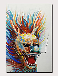 cheap -Mintura Original Hand Painted Zodiac Dragon Oil Paintings on Canvas Modern Abstract Animal Wall Picture Pop Art Posters For Home Decoration Ready To Hang