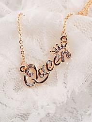 cheap -Women's Pendant Necklace Letter Classic Chrome Imitation Diamond Gold Silver 42+5 cm Necklace Jewelry For