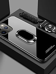 cheap -iPhone11Pro Max Tempered Glass Back Cover Mobile Phone Case XS Max With Ring Bracket With Lanyard Magnetic Suction 6 7 8Plus SE 2020 Protective Case