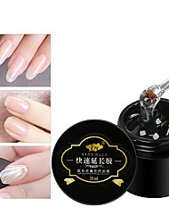 Недорогие -лак для ногтей уф-гель 10 мл 1 шт. простой наращиватель наращиватель ногтей маникюр фоторезист кристалл клей прозрачный модный дизайн