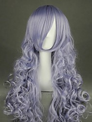 cheap -Cosplay Wig Rozen Maiden Rose Quartz Curly Cosplay Halloween With Bangs Wig Long Grey Synthetic Hair 35 inch Women's Anime Cosplay Party Gray