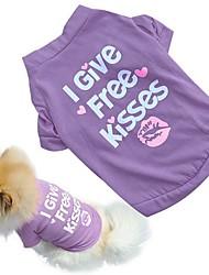 cheap -Cat Dog Dress Dog Clothes Purple Blue Rose Costume Cotton Heart Jeans Cosplay Wedding XS S M L XL