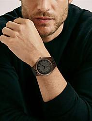 cheap -Men's Sport Watch Quartz Modern Style Stylish Fashion Wooden Analog Black / Genuine Leather / Genuine Leather