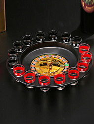 cheap -Drink Game Casino Roulette Barware Creative Novelty 16 Glasses 1 Roulette 2 Small balls