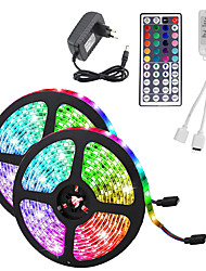 cheap -10M(2*5M) Waterproof Flexible LED Strip Lights RGB Tiktok Lights 2835 600LEDs 8mm 44Keys IR Remote Controller