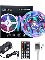 cheap -Bright RGBW LED Strip Lights 5M Waterproof RGBW Tiktok Lights 1170LEDs SMD 2835 with 44 Keys IR Remote Controller and 100-240V Adapter for Home Bedroom Kitchen TV Back Lights DIY Deco