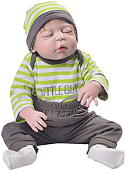 cheap -Reborn Baby Dolls Clothes Reborn Doll Accesories Cotton Fabric for 22-24 Inch Reborn Doll Not Include Reborn Doll Classic Theme Soft Pure Handmade Boys' 4 pcs