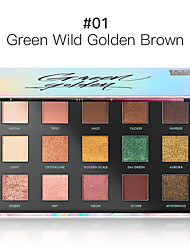 cheap -15 Colors Eyeshadow Gift Lady Adult Glow Gift Women Palette Portable makeup tools Halloween Makeup Party Makeup Fairy Makeup Cosmetic Gift