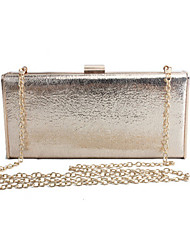 cheap -Women's Faux Leather Evening Bag Wedding Bags Solid Colored Gold / Silver