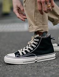 cheap -Men's Summer Outdoor Sneakers Canvas Non-slipping Black / Yellow / Orange
