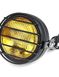 cheap -12V 6.5 Inch 35W Retro Vintage Motorcycle Halogen Headlamp High/Low Beam Set Metal Amber Lamp