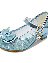 cheap -Princess Shoes Girls' Movie Cosplay Sequins Golden / Purple / Blue Shoes Children's Day Masquerade Polyester