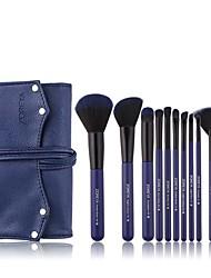 cheap -Professional Makeup Brushes 10pcs Soft Artificial Fibre Brush Plastic for Foundation Brush Makeup Brush Set