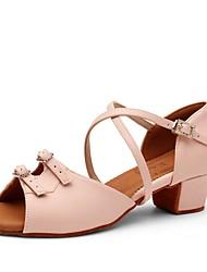 cheap -Women's Modern Shoes Heel Thick Heel PU Almond / Pink / Performance