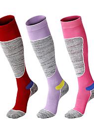cheap -R-BAO Hiking Socks Socks 1 Pair Breathable Warm Sweat-wicking Comfortable Chinlon Elastane Autumn / Fall Spring Winter for Women's Ski / Snowboard Fishing Climbing Purple Red Fuchsia / Cotton