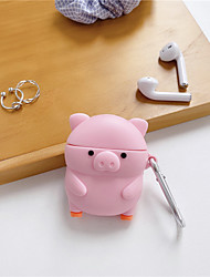 cheap -3D Cartoon pig Earphone Cases for AirPods 2 Case Cute Cartoon for Apple Air Pods Protect Cover for Earpods Silica gel Case