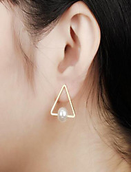 cheap -Women's Pearl Stud Earrings Geometrical Fashion Stylish Imitation Pearl Earrings Jewelry Gold For