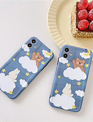 cheap -Fashion Cute Cartoon Animal Funny Rabbit Bear Phone Case For iphone 11 Pro Xs MAX XR X se 2020 7 8 plus Clear Soft TPU Back Cover