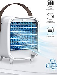 cheap -Portable Air Conditioner USB Rechargeable Portable Mini Cooling Fan with 7x Night Light and 2x Ice Box for Home Office