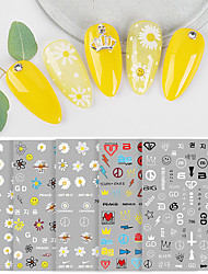 cheap -1 pcs 3D Nail Stickers Creative / Daisy nail art Manicure Pedicure Water Resistant / Ergonomic Design / Multi Function Korean / Fashion Party / Evening / Daily / Festival
