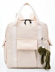 Недорогие -Большая вместимость Нейлон Молнии рюкзак Сплошной цвет Школа Белый / Черный / Синий