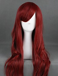 cheap -Cosplay Wig Lolita Curly Cosplay Halloween With Bangs Wig Long Red Synthetic Hair 31 inch Women's Anime Cosplay Party Red