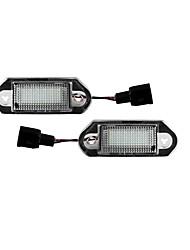 cheap -LED License Number Plate Rear Lights Bulb for VW Golf MK3 Skod