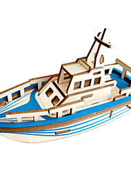 cheap -3D Puzzle Jigsaw Puzzle Model Building Kit Warship Ship DIY Wooden Classic Kid's Unisex Toy Gift