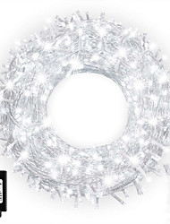 levne -25 m Světelné řetězy 200 LED diody Dip LED 1 13Keys dálkového ovladače 1 sada Teplá bílá / Přirozená bílá Halloween / Vánoce Voděodolné / Ozdobné / Vánoční svatební dekorace 110-240 V
