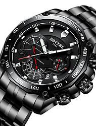 cheap -BOYZHE Men's Sport Watch Automatic self-winding Modern Style Sporty Casual Water Resistant / Waterproof Analog Black Silver / Stainless Steel