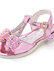 cheap -Girls' Roman Shoes PU Sandals Little Kids(4-7ys) / Big Kids(7years +) Bowknot Pink / Gold / Silver Summer