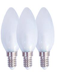 Недорогие -3шт 2.5 W LED лампы в форме свечи 130 lm E14 E27 C35 25 Светодиодные бусины SMD 3014 Тёплый белый Белый 220 V