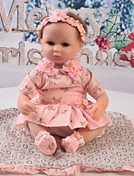 cheap -Reborn Baby Dolls Clothes Reborn Doll Accesories Cotton Fabric for 17-18 Inch Reborn Doll Not Include Reborn Doll Lace Flower Soft Pure Handmade Girls' 5 pcs