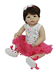 cheap -Reborn Baby Dolls Clothes Reborn Doll Accesories Cotton Fabric for 22-24 Inch Reborn Doll Not Include Reborn Doll Skirt Soft Pure Handmade Girls' 3 pcs