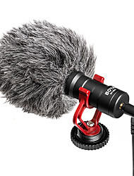 cheap -BOYA BY-MM1 Video Record Microphone for DSLR Camera Smartphone Osmo Pocket Youtube Vlogging Mic for iPhone Android DSLR Gimbal
