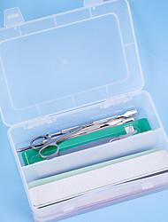 cheap -1 set Plastics Nail Tools Wearproof Durable Manicure Kit Accessory Storage Box Transparent Storage Box