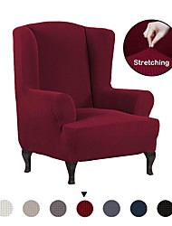 cheap -Stretch Wing Chair Slipcover Wingback Armchair Chair Slipcovers Sofa Covers 1-Piece Spandex Fabric Wing Back Wingback Armchair Chair Slipcovers Furniture Protector,Solid Color Wing Chair Cover