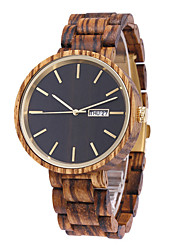 cheap -Men's Sport Watch Quartz Modern Style Fashion Calendar / date / day Noctilucent Analog Black Brown / Wood