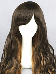cheap -Cosplay Wig Lolita Curly Cosplay Halloween With Bangs Wig Long Brown Synthetic Hair 25 inch Women's Anime Cosplay Soft Brown