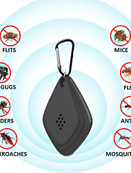 cheap -2 Pcs Ultrasonic Repeller Anti Mosquito Outdoor Insect Repeller Electronic Ultrasonic Repeller for Cockroach Control Pest and Mosquito Repeller