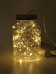Недорогие -2м Гирлянды 20 светодиоды SMD 0603 10 шт. / 6шт / 2pcs Тёплый белый / Белый / Разные цвета Рождество / Новый год Водонепроницаемый / USB / Декоративная 5 V / Работает от USB