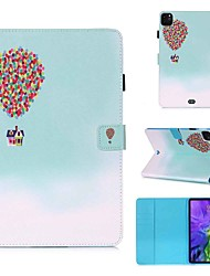 cheap -Case For Apple iPad Pro 11''(2020) / iPad 2019 10.2 / Ipad air3 10.5' 2019 Wallet / Card Holder / with Stand Full Body Cases Balloon House PU Leather / TPU for iPad Air / iPad 4/3/2 / iPad (2018)