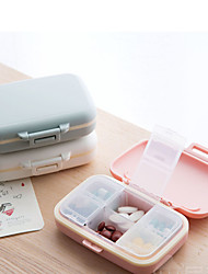 cheap -Portable 6 Compartment Small Medicine Box Mini Storage Sealed Portable Travel Pill Box
