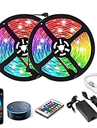 cheap -10m Flexible LED Strip Lights RGB Tiktok Lights Smart Lights 300 LEDs SMD5050 1 12V 6A Adapter 1 24Keys Remote Controller 1 To 2 Cable Connector 1 set RGB Tiktok Lights+White Waterproof APP
