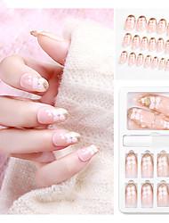 cheap -24pcs Plastics Ergonomic Design Removable Sweet Fashion Daily Festival Artificial Nail Tips for Finger Nail / Romantic Series