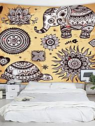 economico -clan di elefanti pittura stampata arazzo decor wall art tovaglie copriletto coperta da picnic spiaggia tiro arazzi colorato camera da letto sala dormitorio soggiorno appeso