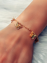 cheap -Women's Gold Bracelet Classic Butterfly Trendy Korean Sweet French Boho Alloy Bracelet Jewelry Gold For Wedding Party Evening Gift Prom Beach