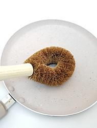cheap -Coconut Fiber Long Hand Pot Washing Brush Non-Stick Oil Bowl for Kitchen