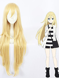 cheap -halloweencostumes Cosplay Costume Wig Cosplay Wig Ray Straight Cosplay With Bangs Wig Very Long Blonde Synthetic Hair 40 inch Women's Anime Cosplay Waterfall Blonde