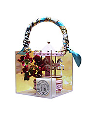cheap -Transparent Portable Box Mother's Day Gift Box Size 15x15x16